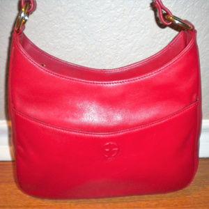 Giani Bernini Purse Shoulder Handbag Red Leather